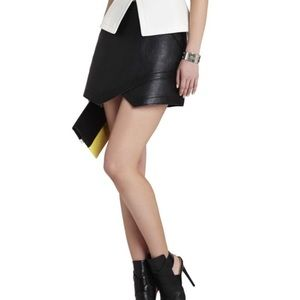 BCBGMaxaria Owen Faux Leather Skirt